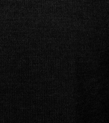 Detail Profuomo Pullover O-Ausschnitt Schwarz