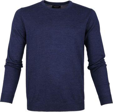 Profuomo Pullover O-Hals Blauw