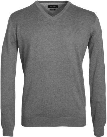 Profuomo Pullover V-Hals Grey
