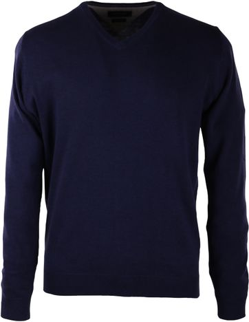Profuomo Pullover V-Hals Navy