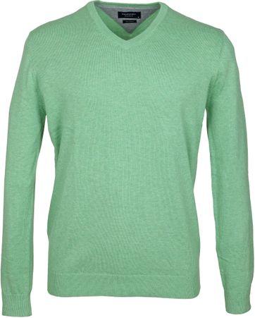 Profuomo Pullover V-Neck Green
