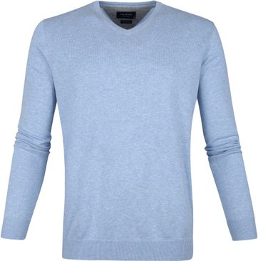 Profuomo Pullover V-Neck Light Blue