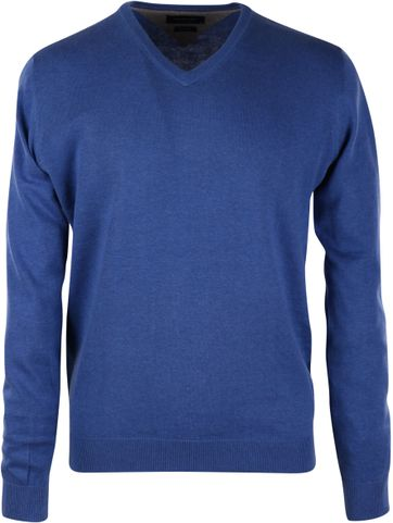 Profuomo Pullover V-Neck Royal Blue