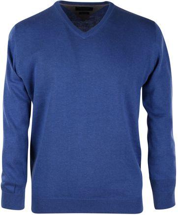 Profuomo Pullover V-Neck Royal Blue