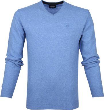 Profuomo Pullover Wol Lichtblauw