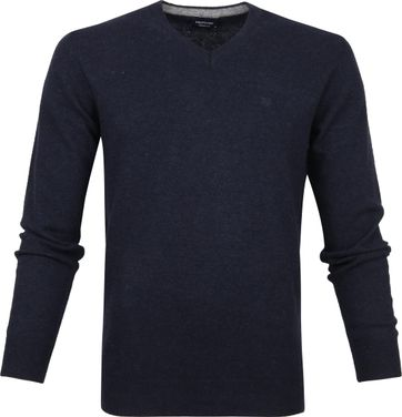 Profuomo Pullover Wol Navy