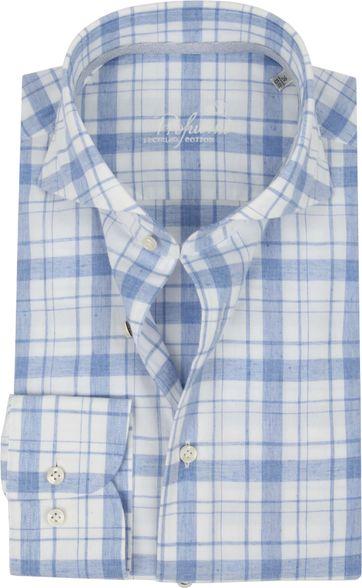 Profuomo Recycled Hemd Ruit Blauw