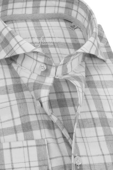 Profuomo Recycled Overhemd Ruit Grijs