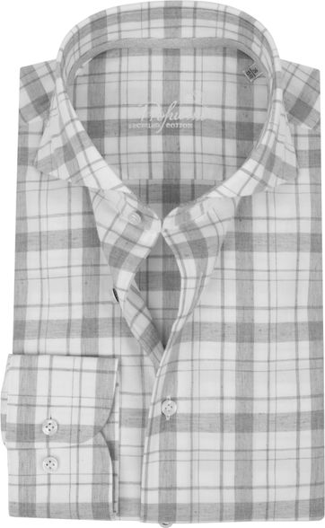 Profuomo Recycled Shirt Checkered Grey