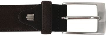 Detail Profuomo Riem Suede Donkerbruin