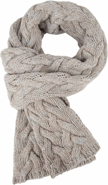 Profuomo Scarf Beige Cable Pattern
