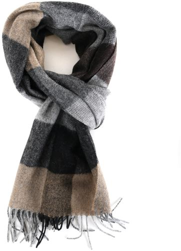 Profuomo Scarf Brown Checkered