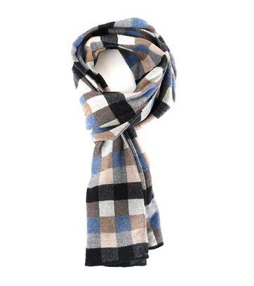 Profuomo Scarf Brown Checks Wool