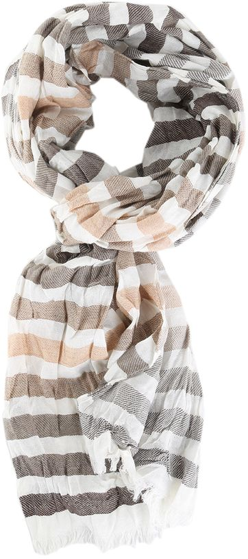 Profuomo Scarf Brown Stripe