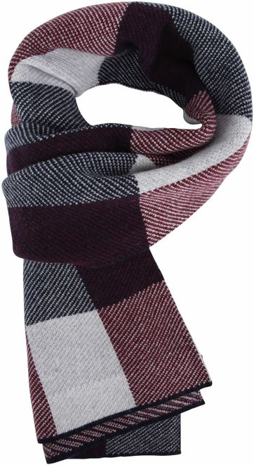 Profuomo Scarf Check Bordeaux
