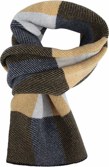 Profuomo Scarf Check Yellow