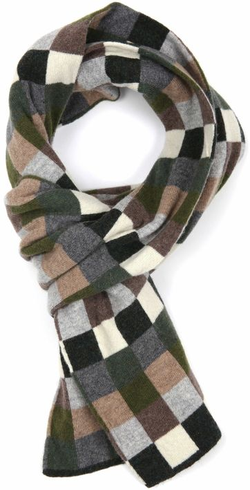 Profuomo Scarf Checkered Green