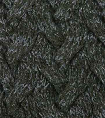 Profuomo Scarf Dark Green Cable Pattern