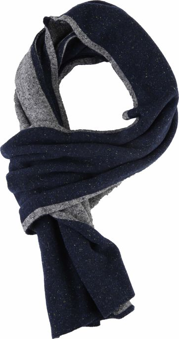 Profuomo Scarf Donegal Navy