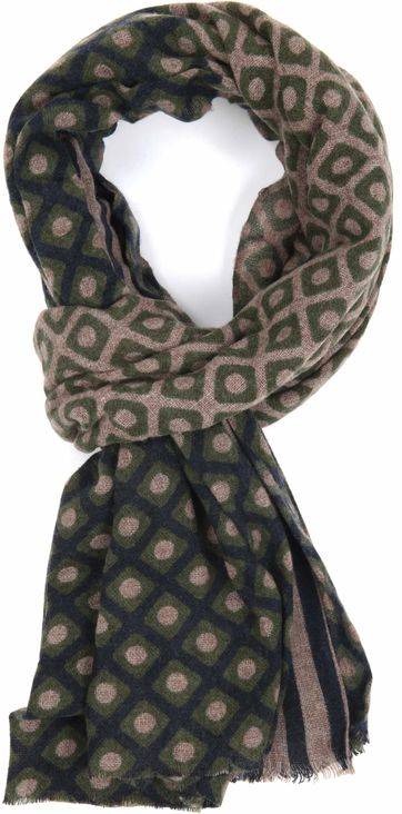 Profuomo Scarf Navy Olive