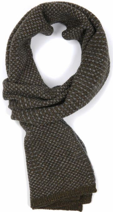 Profuomo Scarf Olive Grey