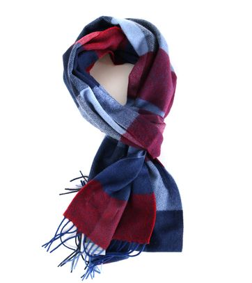 Profuomo Scarf Red + Blue Checks