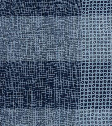 Detail Profuomo Schal Blau Dessin