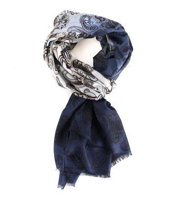 Profuomo Schal Blau Paisley