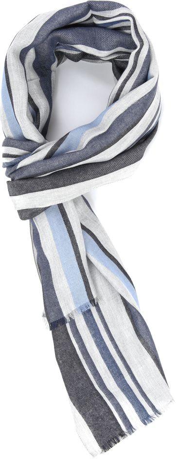 Profuomo Schal gewebt Blau
