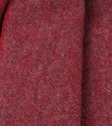 Profuomo Schal Gewoben Bordeaux Rot
