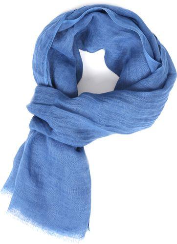 Profuomo Schal Leinen Gewoben Blau