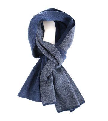 Profuomo Schal Motiv Blau