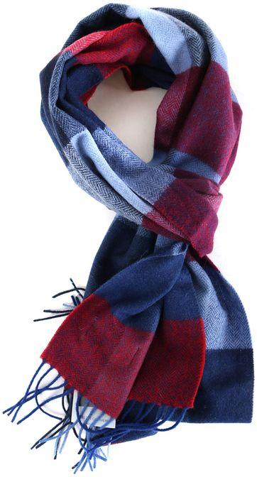 Profuomo Schal Rot + Blau Karo