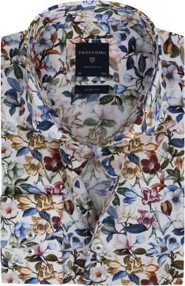 Profuomo SF Shirt Flowers Multicolour