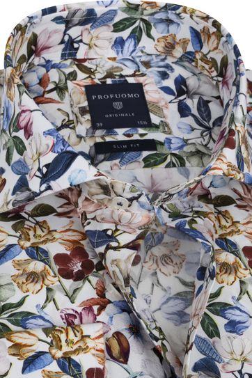 Profuomo SF Shirt Flowers Multicolour