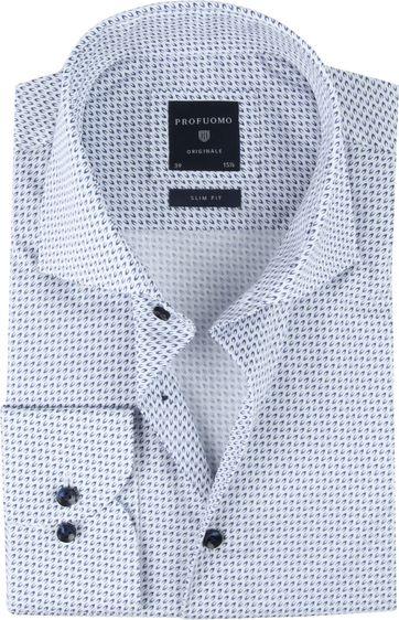 Profuomo SF Shirt Printed Blauw