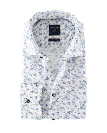 Profuomo Shirt Blauwe Bloemen