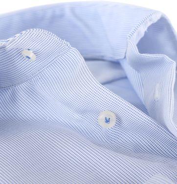 Detail Profuomo Shirt Blauwe Pinpoint
