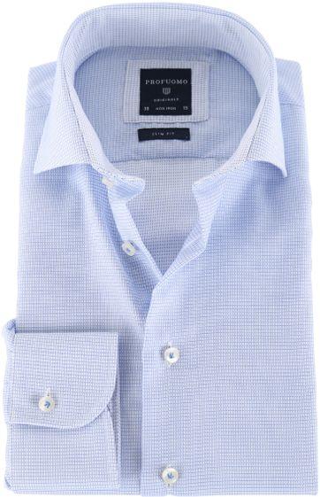 Profuomo Shirt Blauwe ruit
