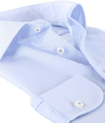 Detail Profuomo Shirt Blauwe ruit
