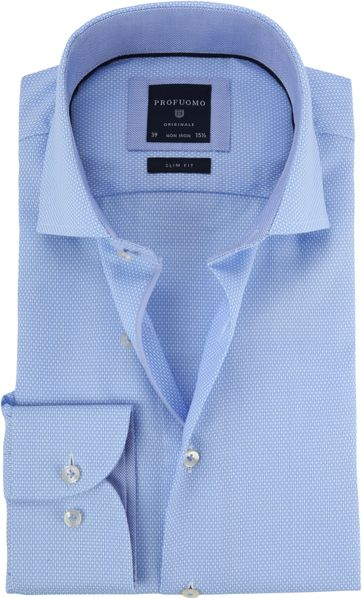 Profuomo Shirt Blue Cutaway
