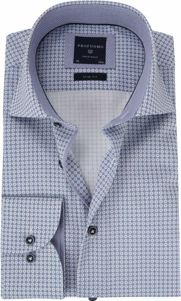 Profuomo Shirt Blue Cutaway SF
