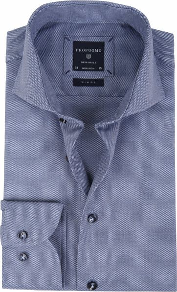 Profuomo Shirt Blue SF Dessin