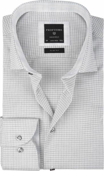 Profuomo Shirt CAW Pane Grey