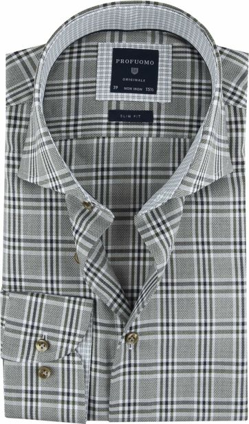 Profuomo Shirt Checkered Green
