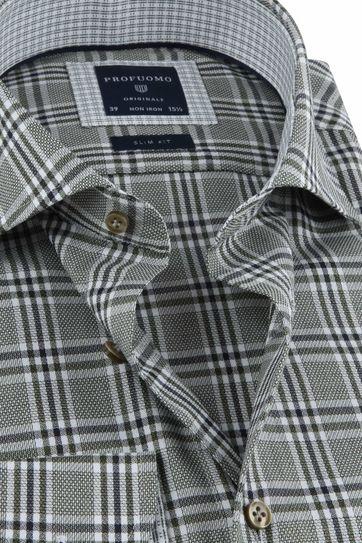 Profuomo Shirt Checkered Green