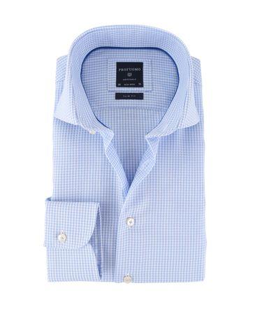 Profuomo Shirt Cutaway Blauw Dessin