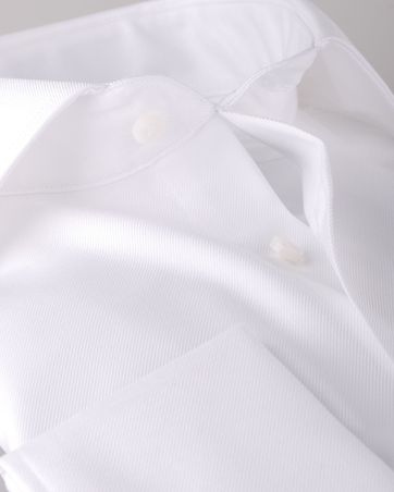 Detail Profuomo Shirt Cutaway Dubbel Manchet Wit
