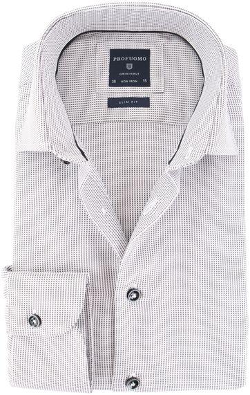 Profuomo Shirt Cutaway Grijs Punt