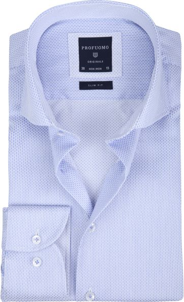Profuomo Shirt Dessin Blue